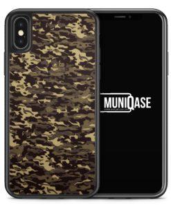 iPhone X Hülle SILIKON - Camouflage Grün