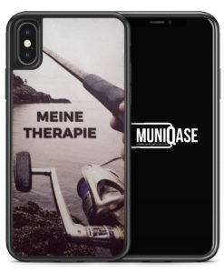 iPhone X Hülle SILIKON - Meine Therapie Angeln Angler