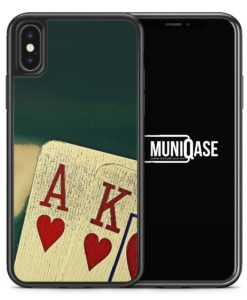 iPhone X Hülle SILIKON - Poker Karten