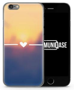 Vintage Herz Sonnenuntergang - Slim Handyhülle für iPhone 6 Plus & 6s Plus