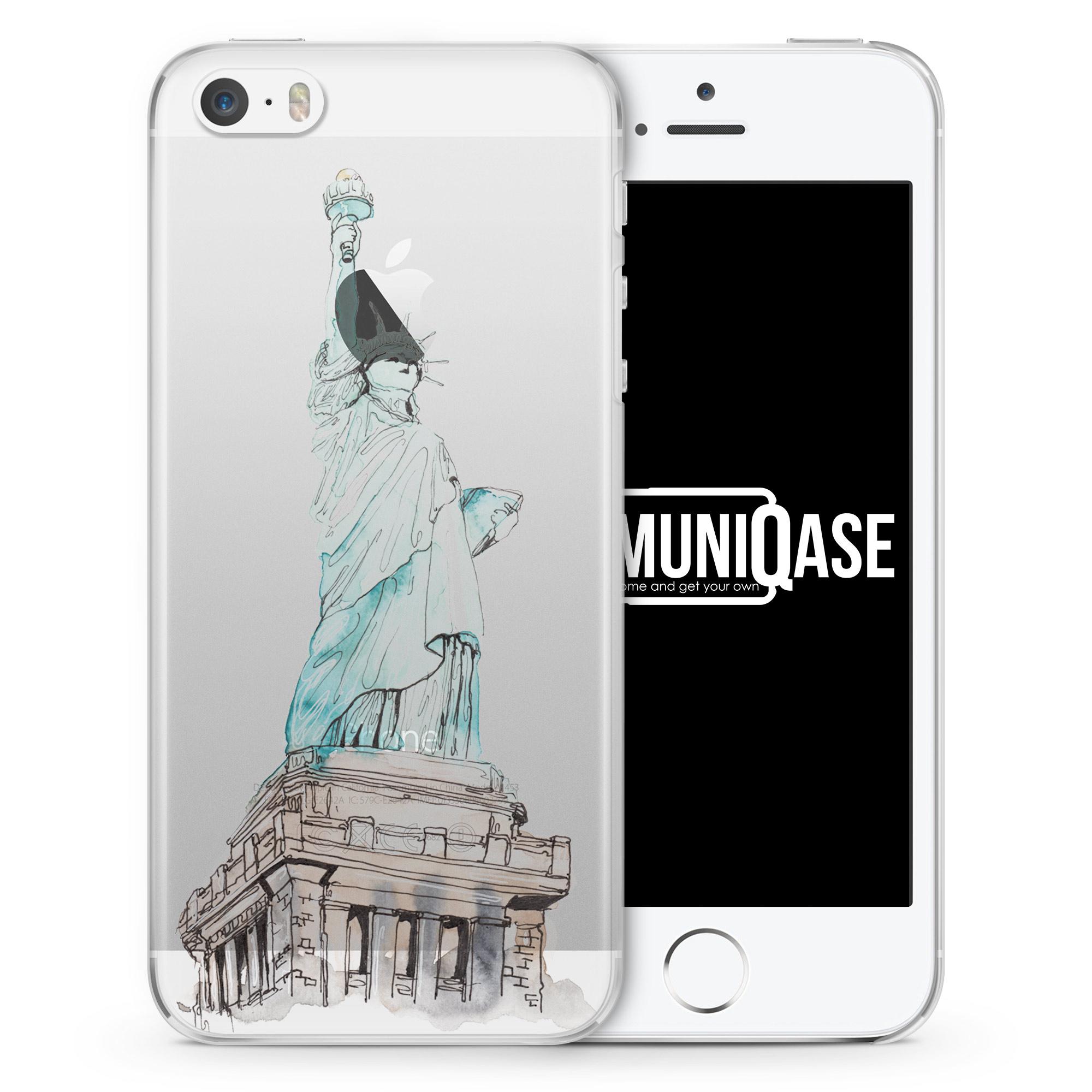 Freiheitsstatue - transparente Handyhülle für iPhone SE