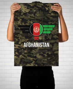 Afghanistan Camouflage mit Schriftzug - Poster