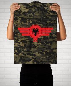 Albanien Albania Camouflage - Poster