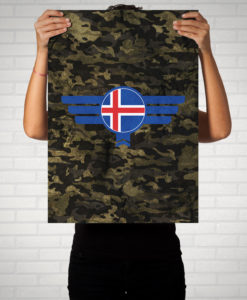 Island Iceland Camouflage - Poster