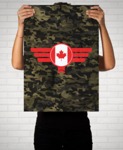 Canada Kanada Camouflage - Poster