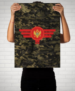 Montenegro Camouflage - Poster
