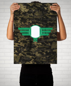 Nigeria Camouflage - Poster