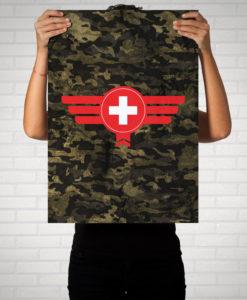 Schweiz Camouflage - Poster