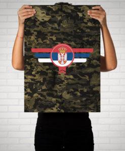 Srbija Serbien Camouflage - Poster