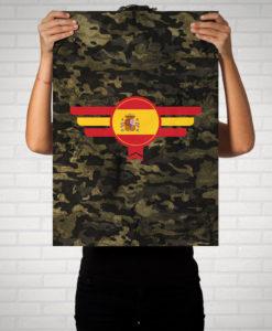 Spanien Espana Camouflage - Poster