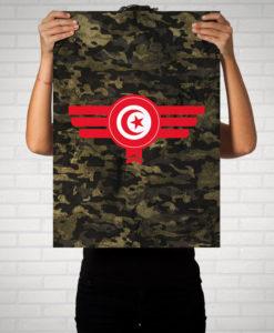 Tunesien Tunisia Camouflage - Poster