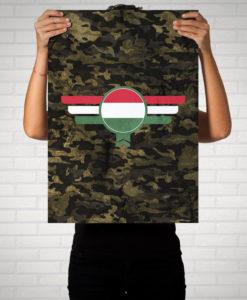 Ungarn Magyarország Camouflage - Poster