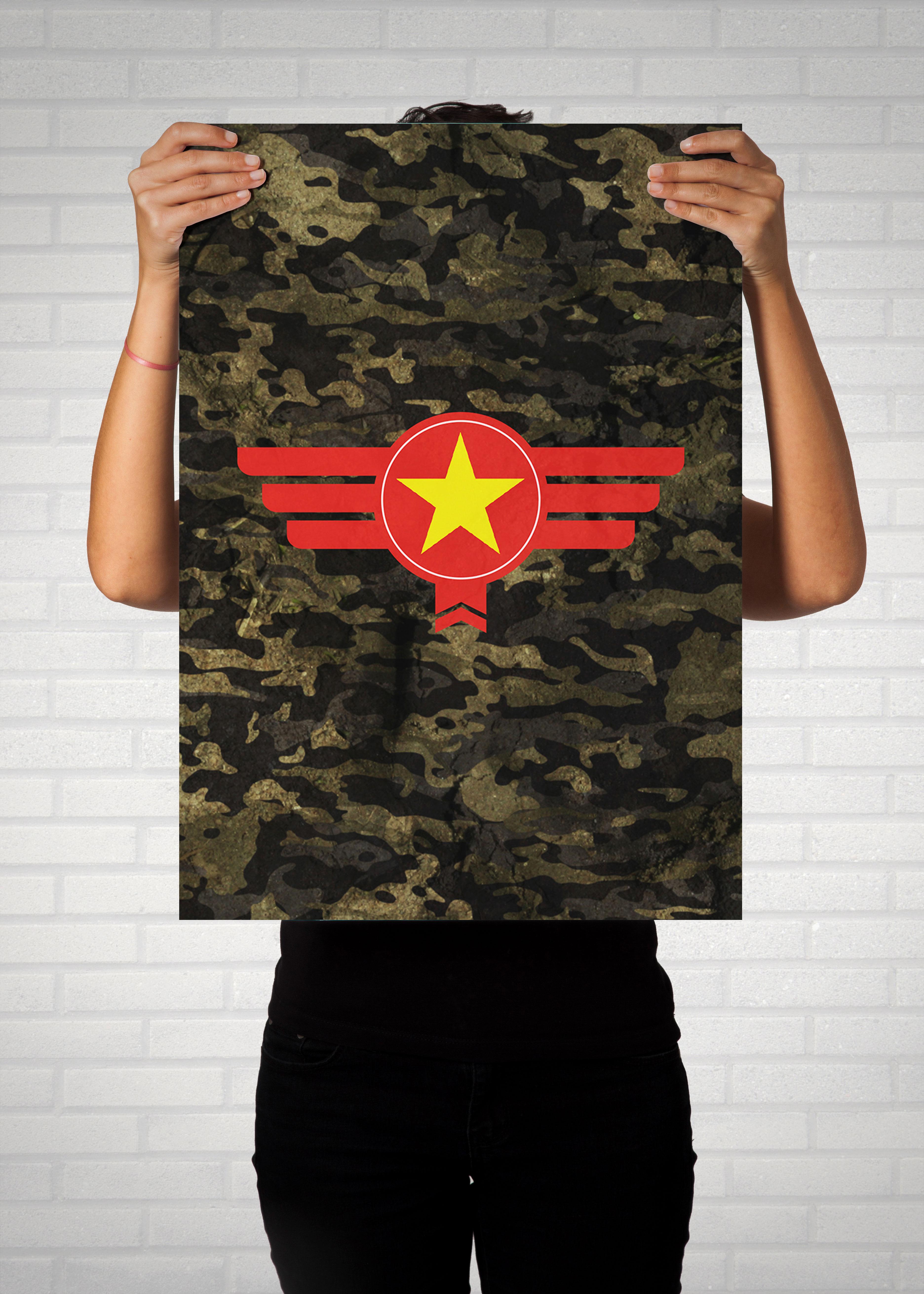 Vietnam Camouflage - Poster