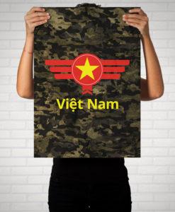 Vietnam Camouflage mit Schriftzug - Poster