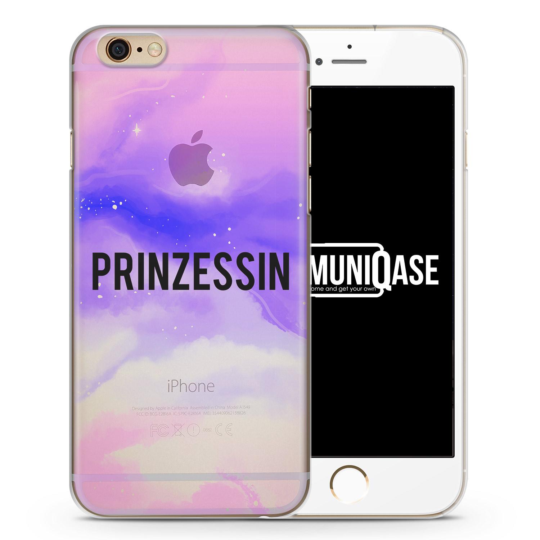 Prinzessin. Galaxy Nebula Schwarz - transparente Handyhülle für iPhone 6 Plus & 6s Plus