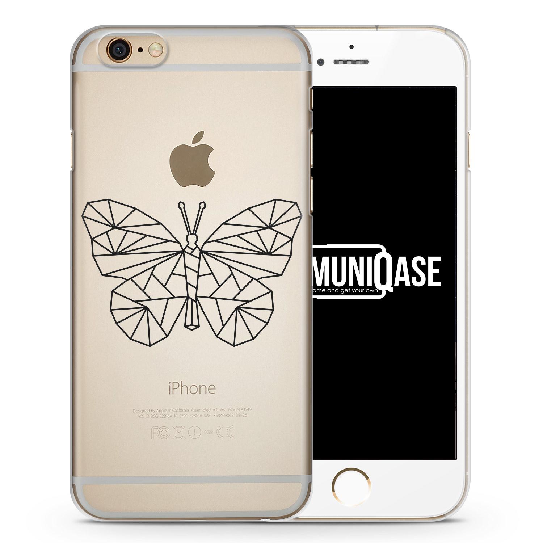 Geometrischer Schmetterling - transparente Handyhülle für iPhone 6 Plus & 6s Plus