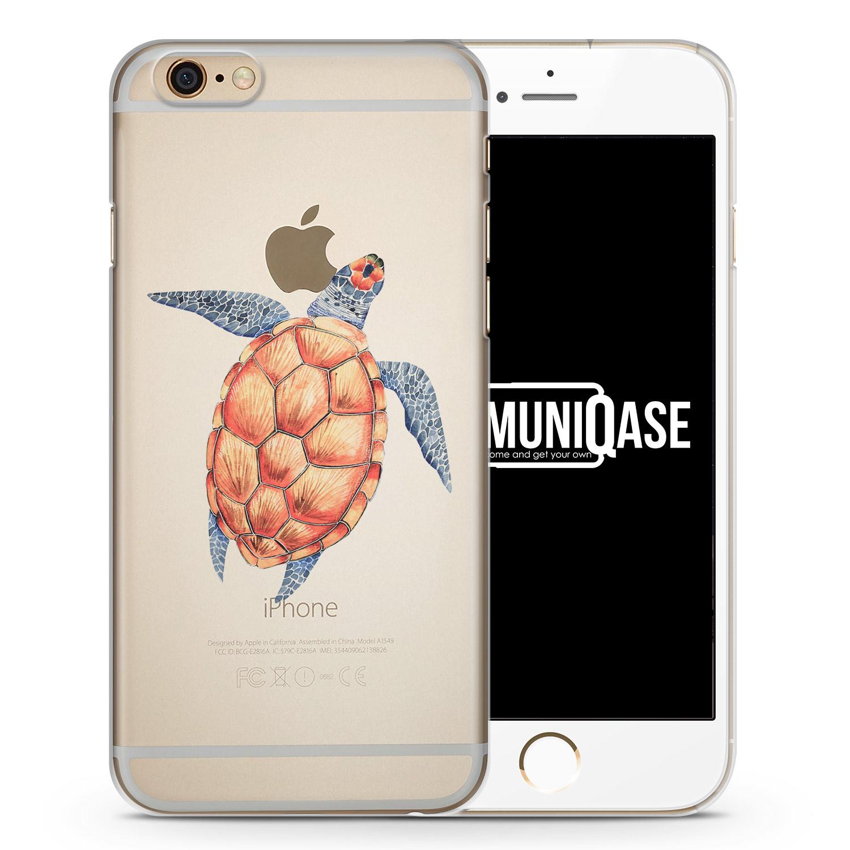 Schildkröte Tropical - transparente Handyhülle für iPhone 6 Plus & 6s Plus