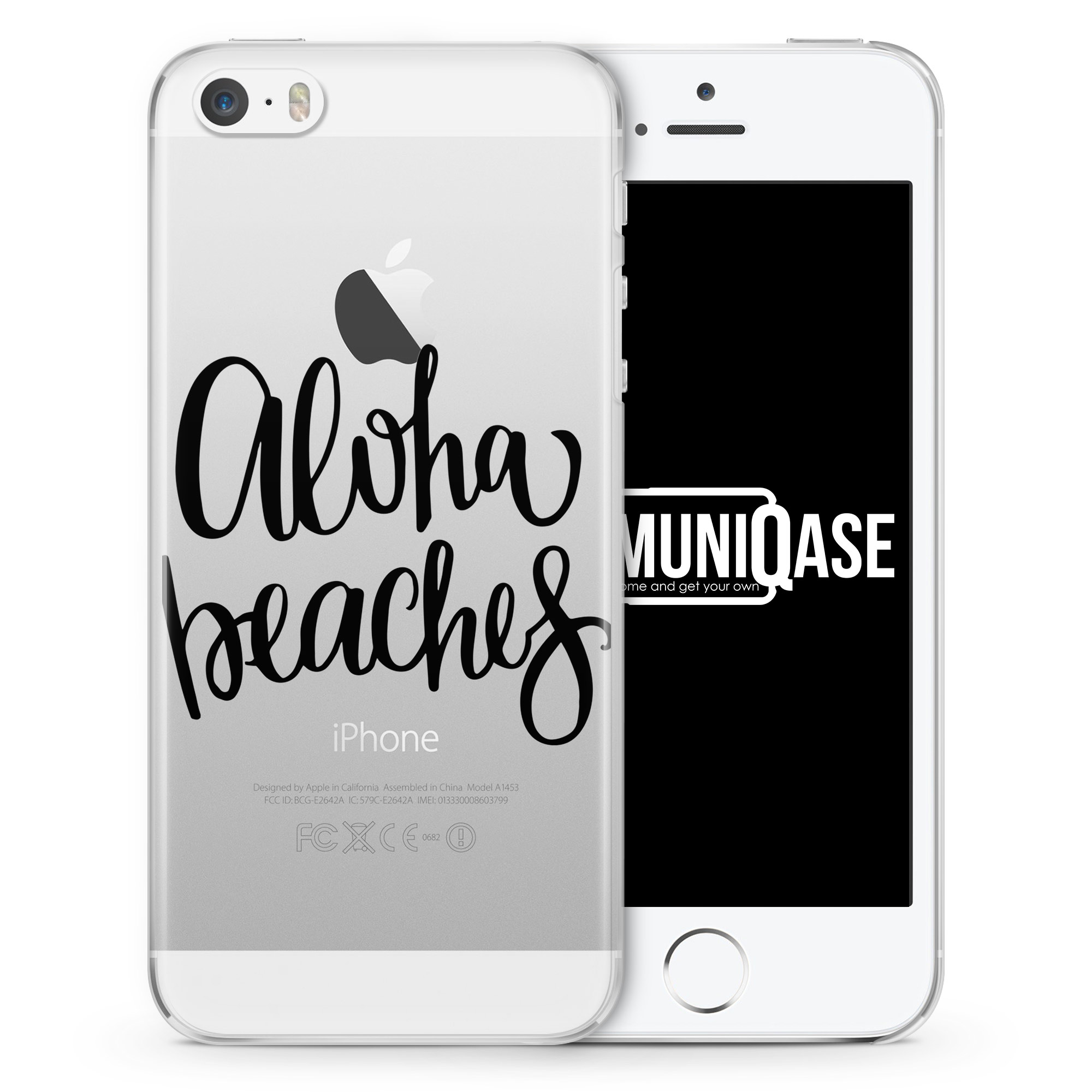 Aloha Beaches - transparente Handyhülle für iPhone SE