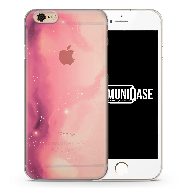 Pastell Galaxy Farben Pink - transparente Handyhülle für iPhone 6 Plus & 6s Plus
