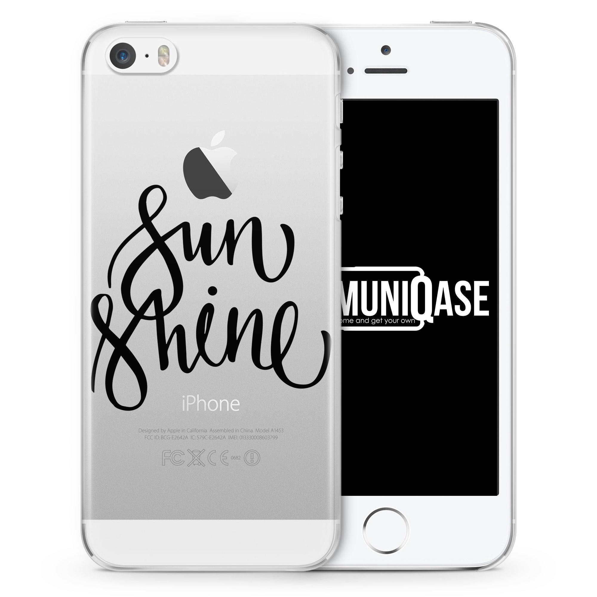Sunshine Schriftzug - transparente Handyhülle für iPhone SE