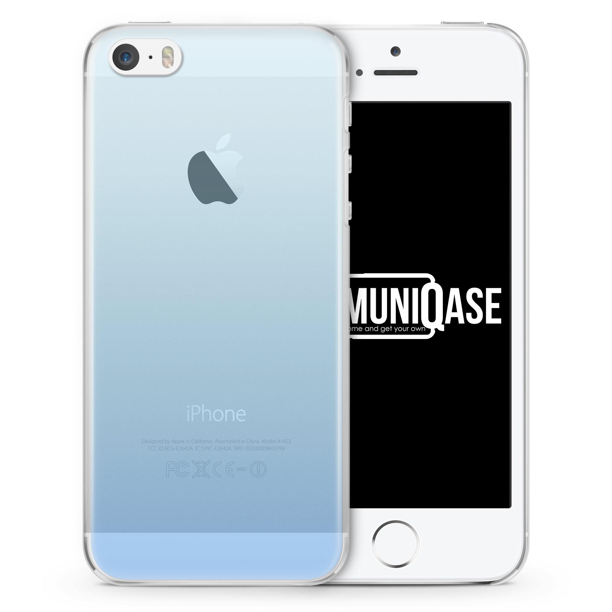 Hellblau Verlauf - transparente Handyhülle für iPhone SE