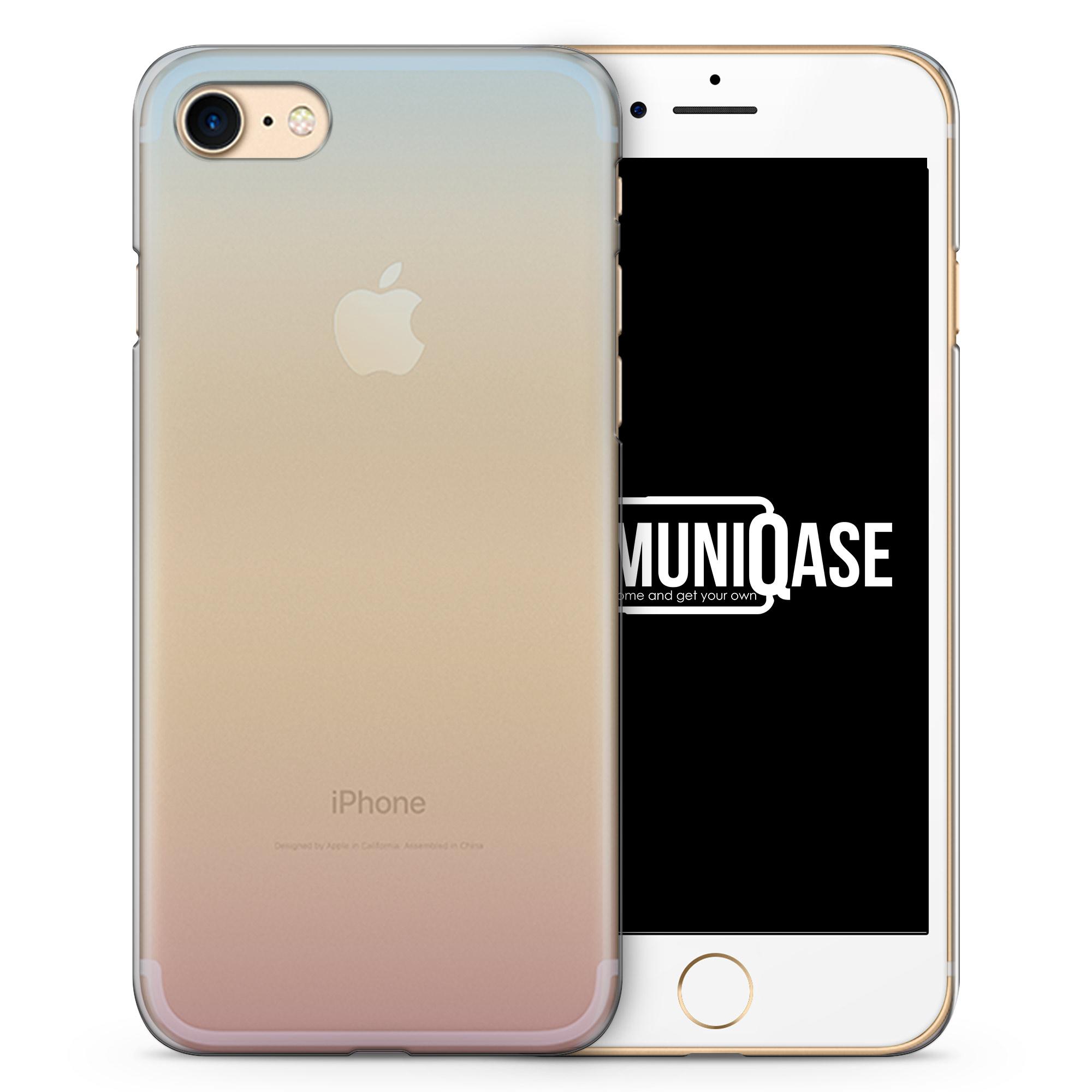 Blau - Gelb - Rosa Verlauf - transparente Handyhülle für iPhone 7
