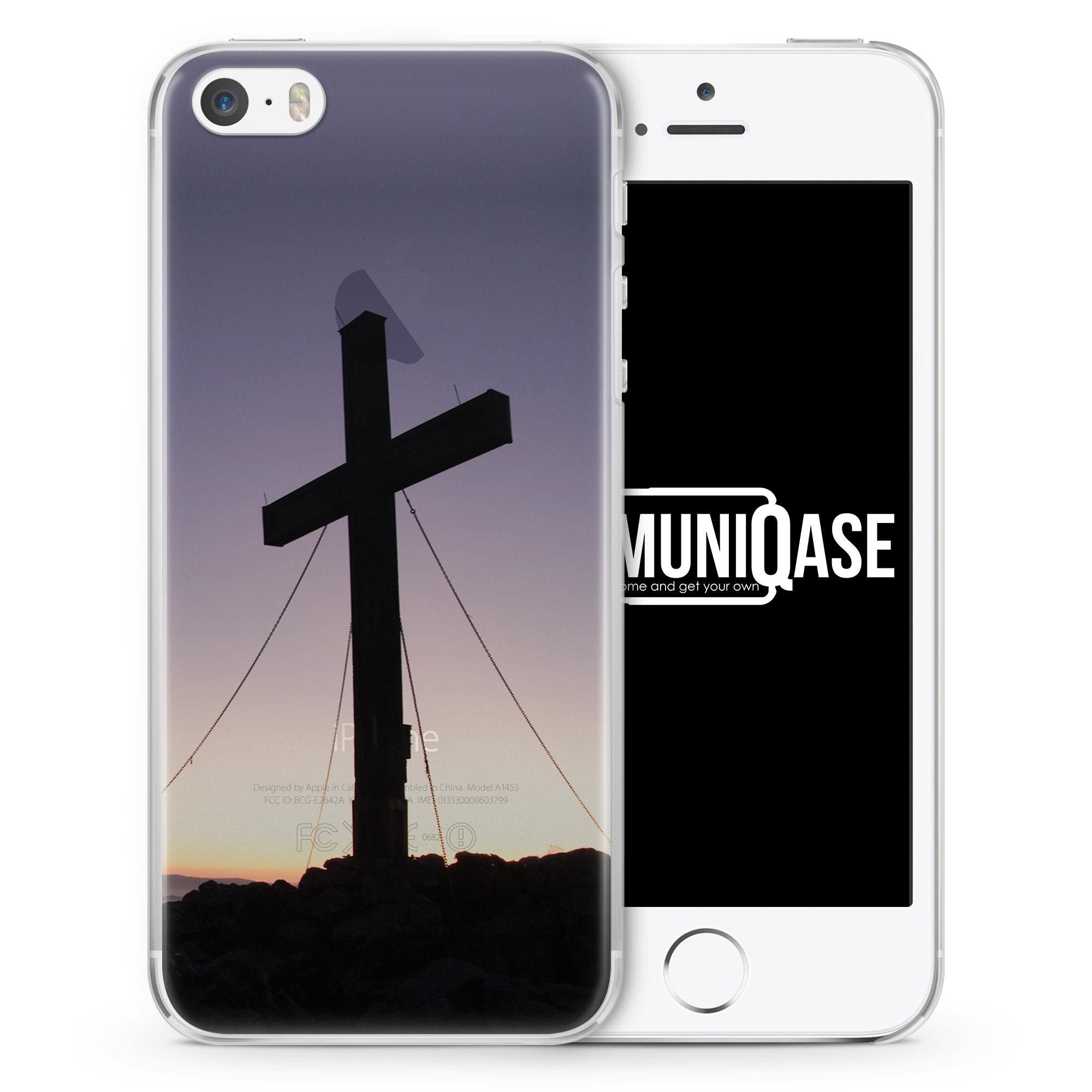 Kreuz Foto - transparente Handyhülle für iPhone SE