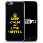 Keep Calm And Love Krefeld - Slim Handyhülle für iPhone 6 Plus & 6s Plus