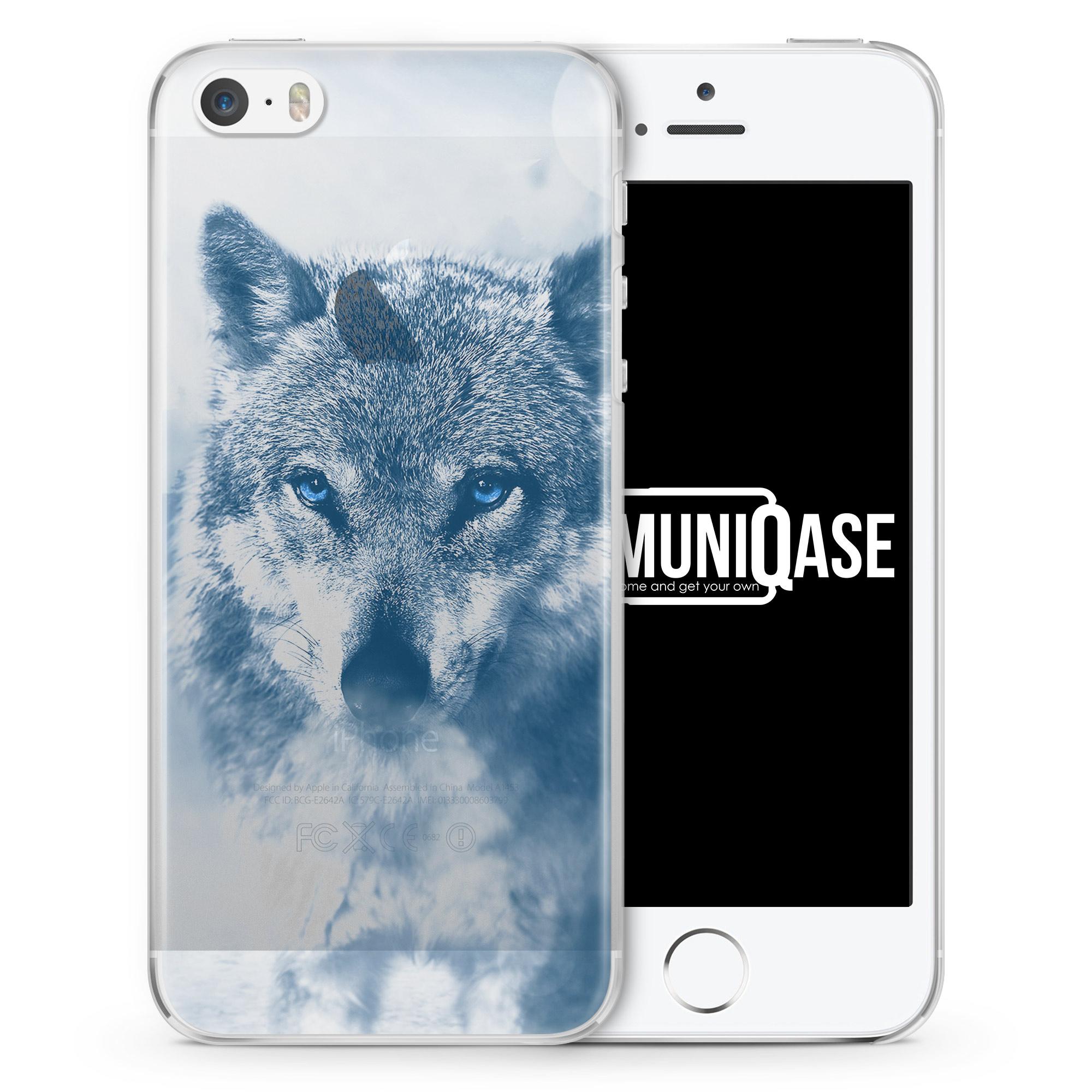 Wolf Foto - transparente Handyhülle für iPhone SE