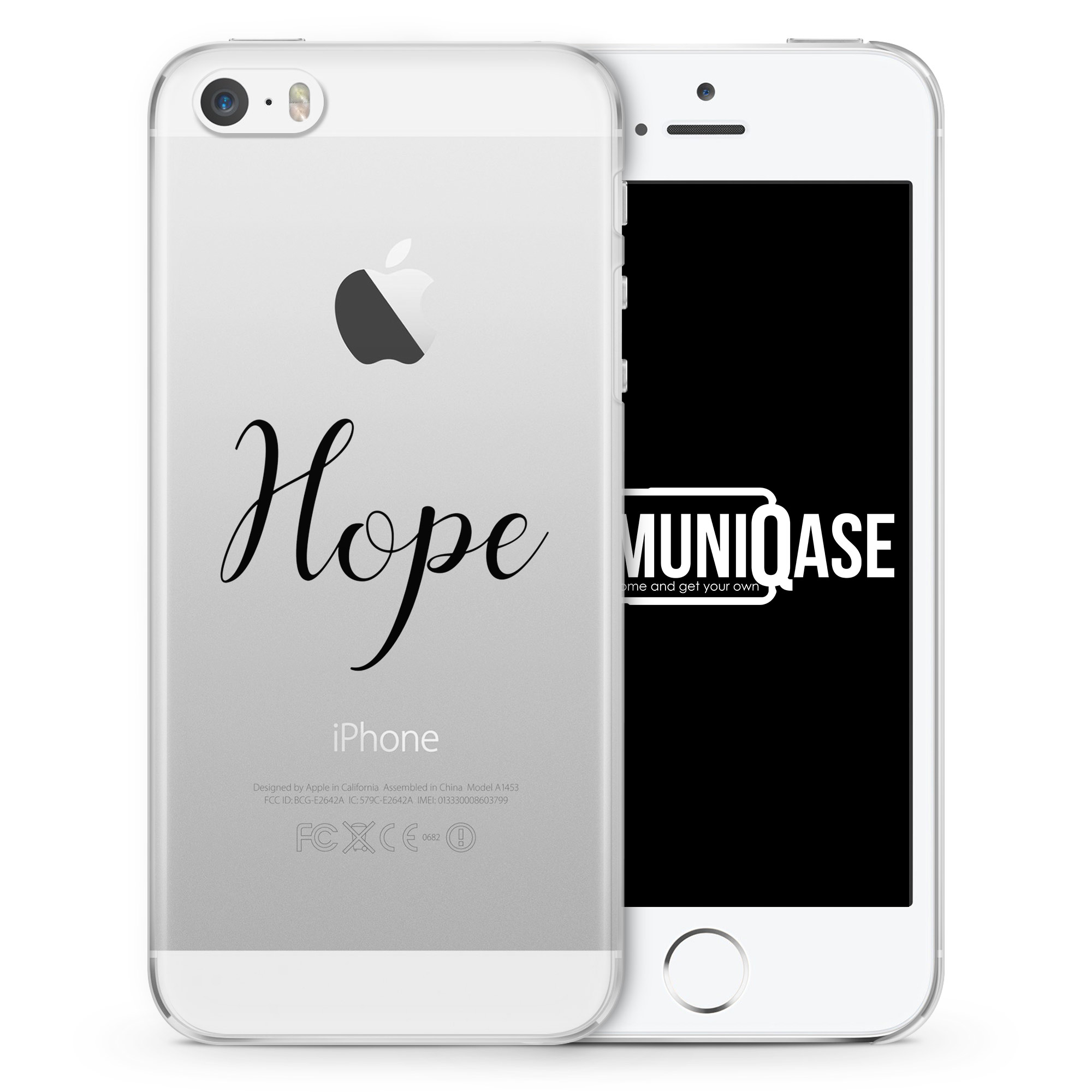Hope Schriftzug - transparente Handyhülle für iPhone SE