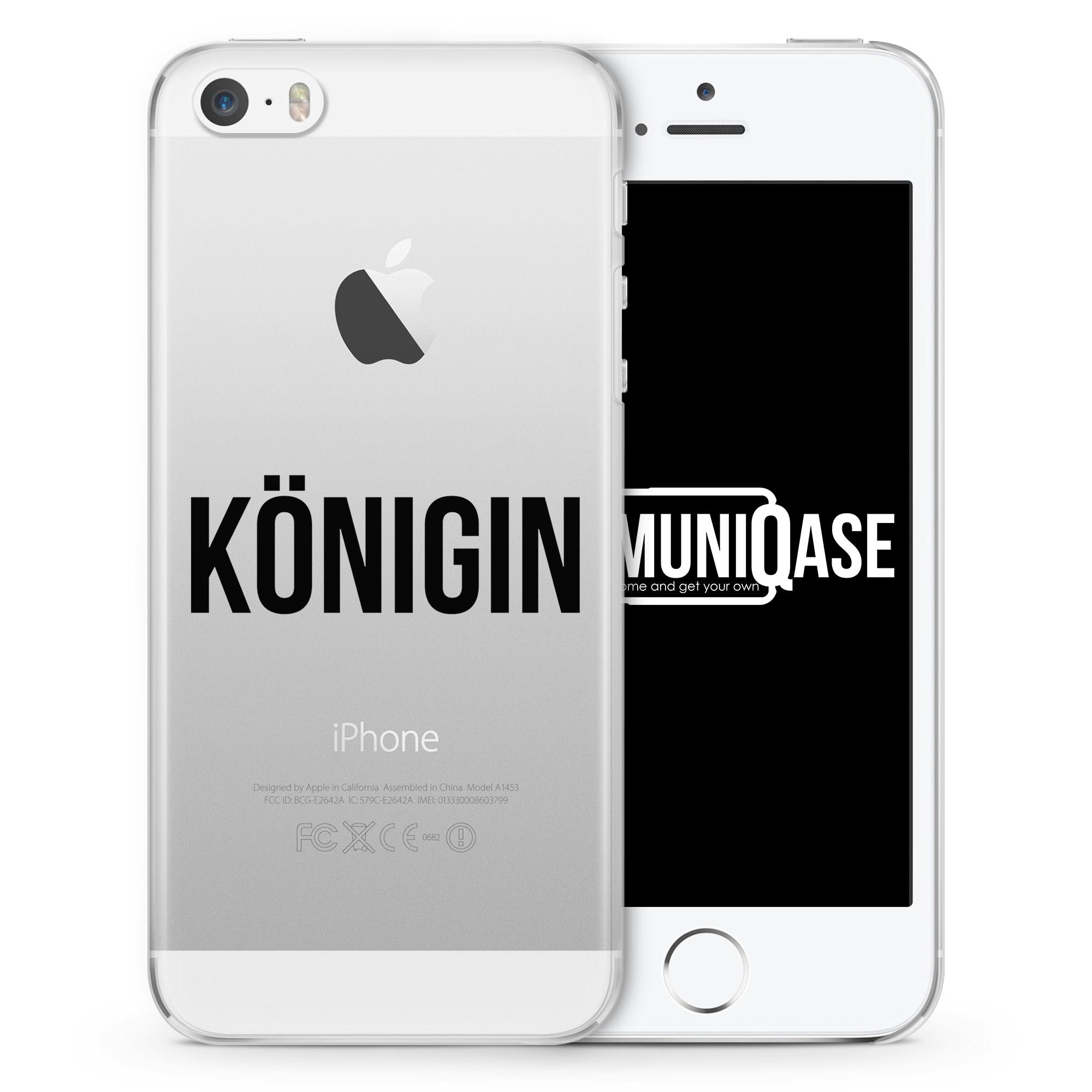 Königin - transparente Handyhülle für iPhone SE