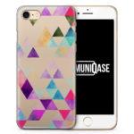 Bunte Dreiecke Wasserfarben Muster - transparente Handyhülle für iPhone 7