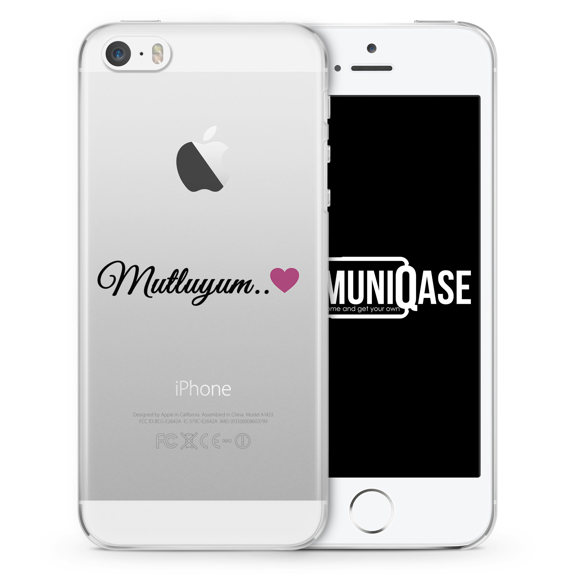 Mutluyum Pink - transparente Handyhülle für iPhone SE