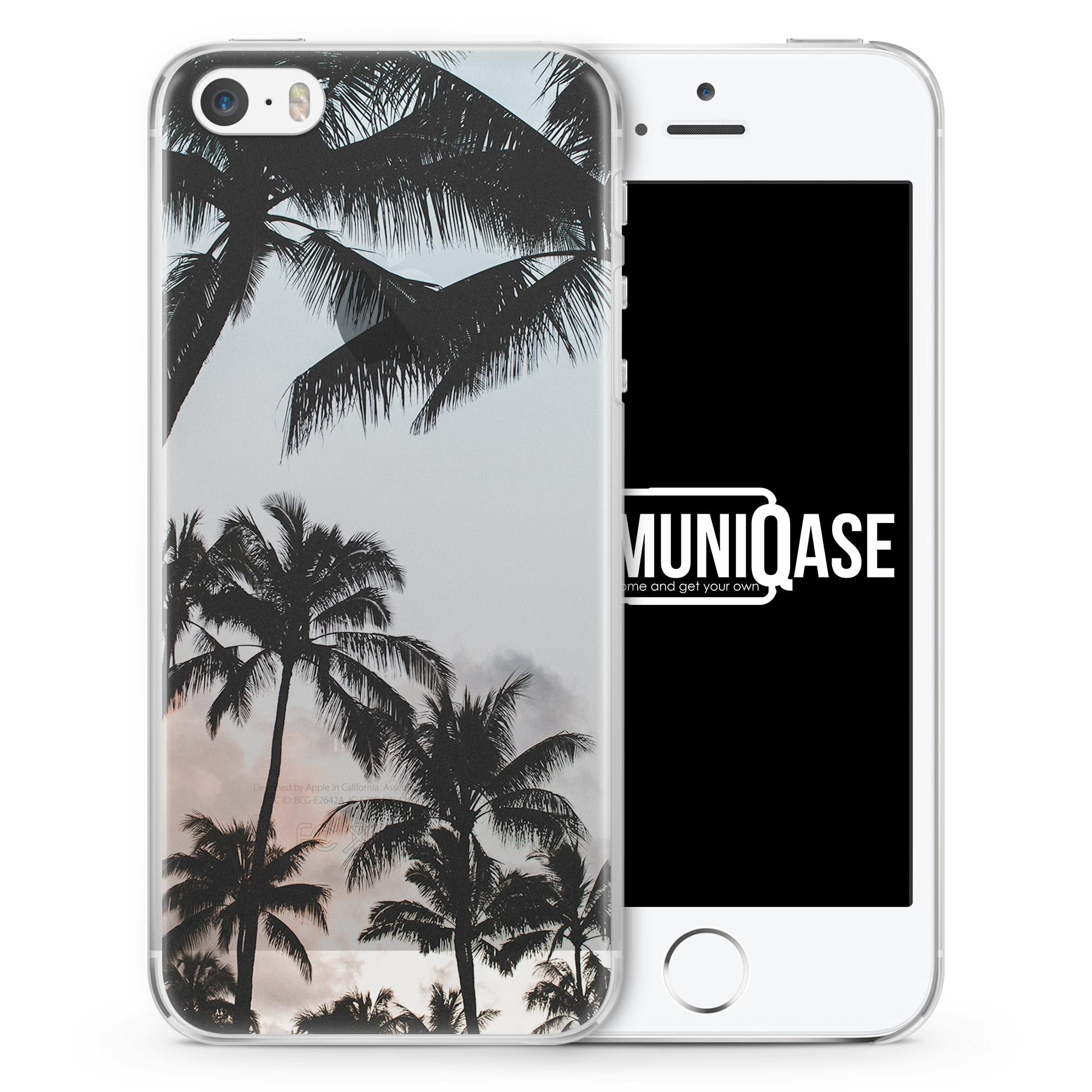 Palmen Landschaft Tropical - transparente Handyhülle für iPhone SE