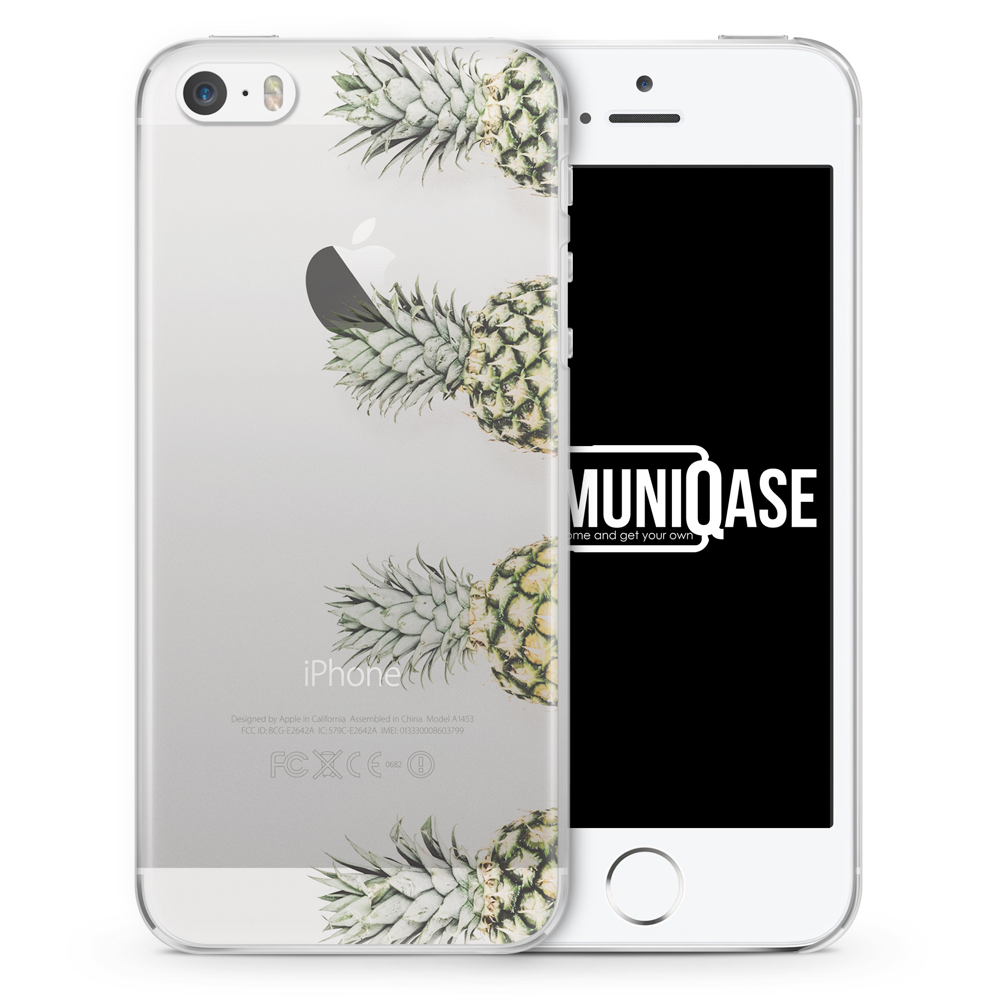 Ananas Foto Tropical - transparente Handyhülle für iPhone SE