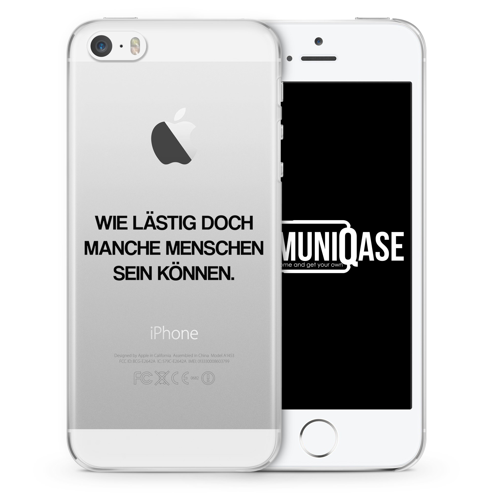 Wie lästig doch manche Menschen sein können - transparente Handyhülle für iPhone SE