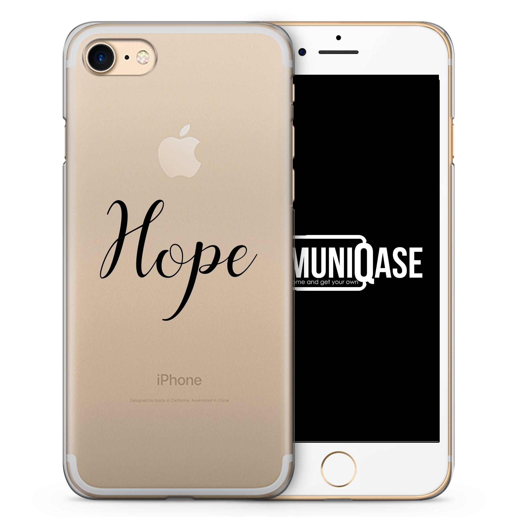 Hope Schriftzug - transparente Handyhülle für iPhone 7