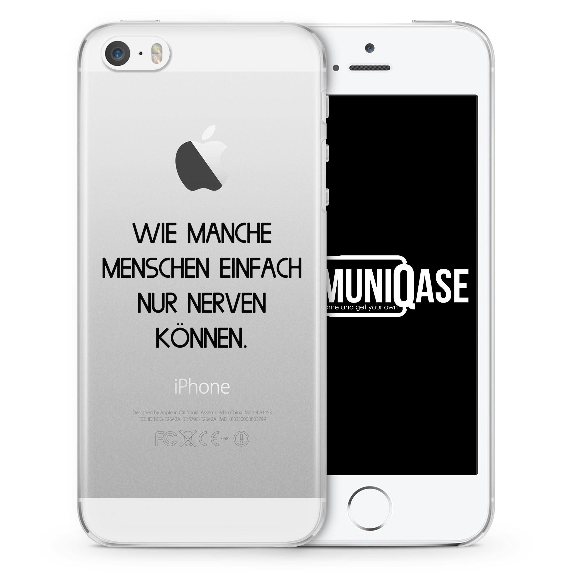 Wie manche Menschen einfach nur nerven können - transparente Handyhülle für iPhone SE