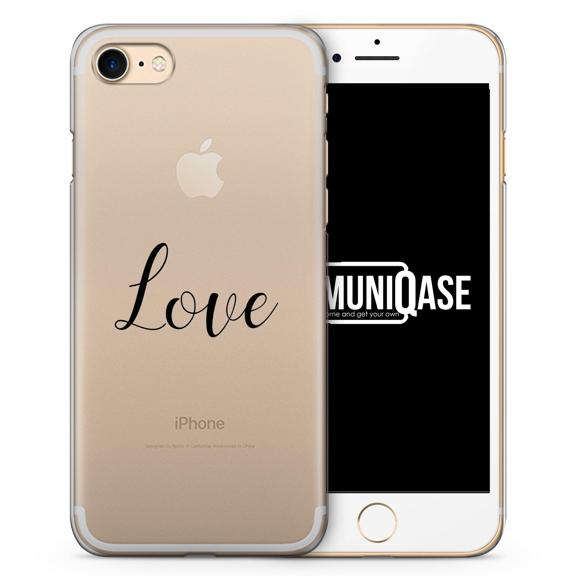Love Schriftzug - transparente Handyhülle für iPhone 7