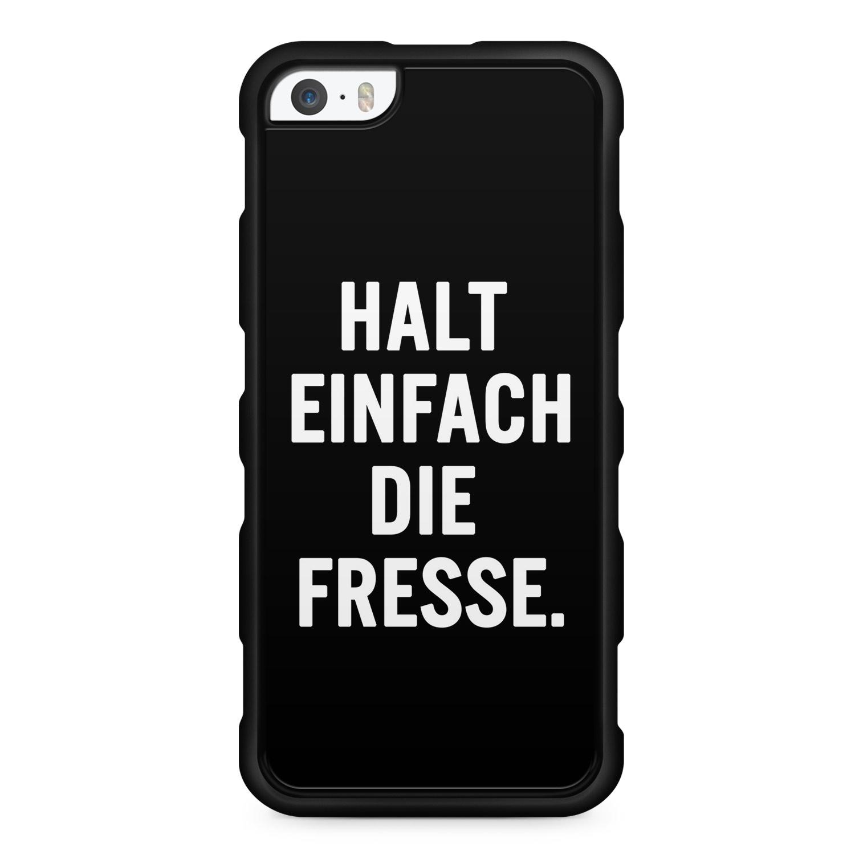 Halt Einfach Die Fresse. - Silikon Handyhülle für iPhone SE
