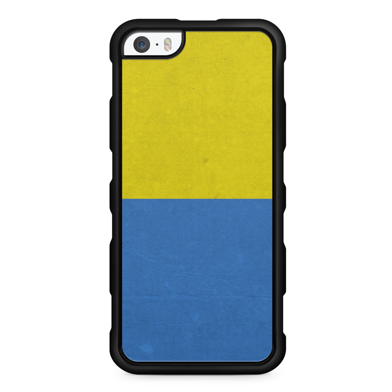 ukraine flagge flag silikon handyh lle f r iphone 5 5s. Black Bedroom Furniture Sets. Home Design Ideas