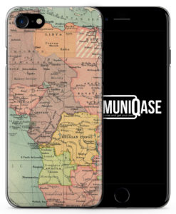 Vintage Weltkarte Afrika - Slim Handyhülle für iPhone 7