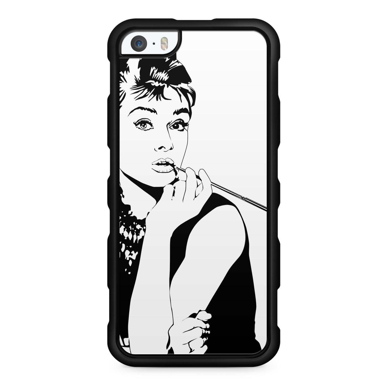Audrey Hepburn Vintage - Silikon Handyhülle für iPhone SE