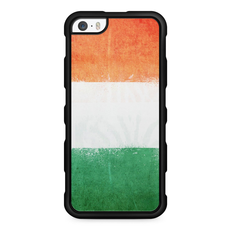 Irland Grunge - Silikon Handyhülle für iPhone SE