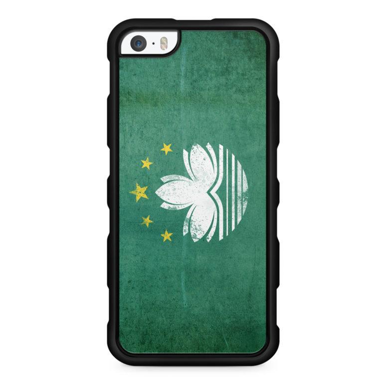 Macau Grunge - Silikon Handyhülle für iPhone SE