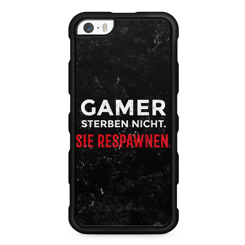 Gamer Sterben Nicht. Sie Respawnen. - Silikon Handyhülle für iPhone SE