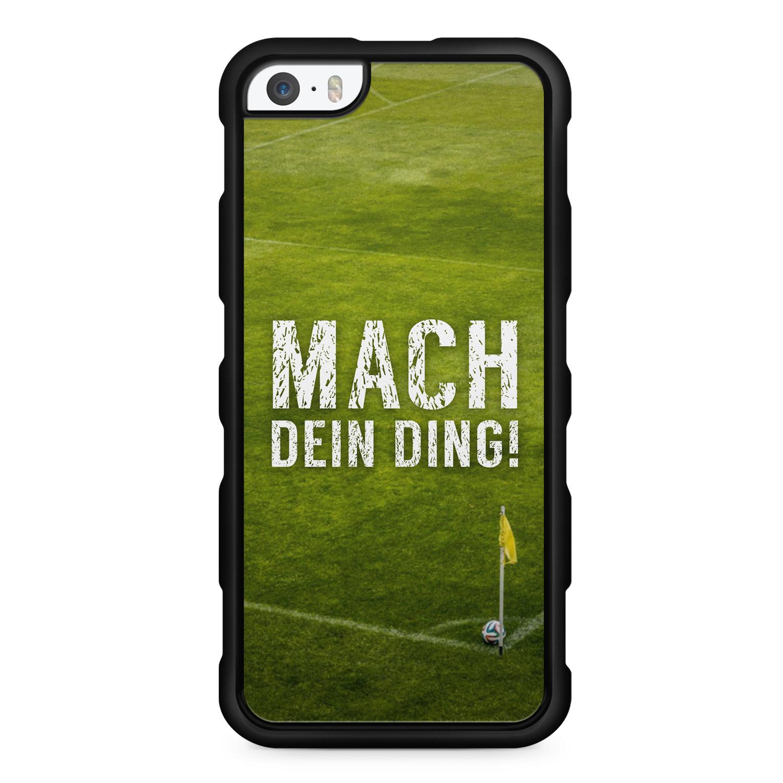 Mach Ding! Fußball - Silikon Handyhülle für iPhone SE