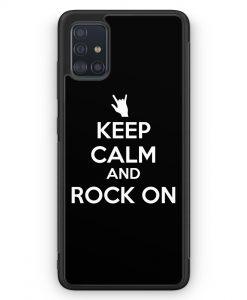 Samsung Galaxy A51 Silikon Hülle - Keep Calm And Rock On
