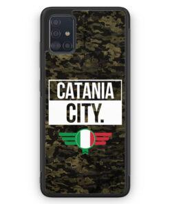 Samsung Galaxy A51 Silikon Hülle - Catania City Camouflage Italien