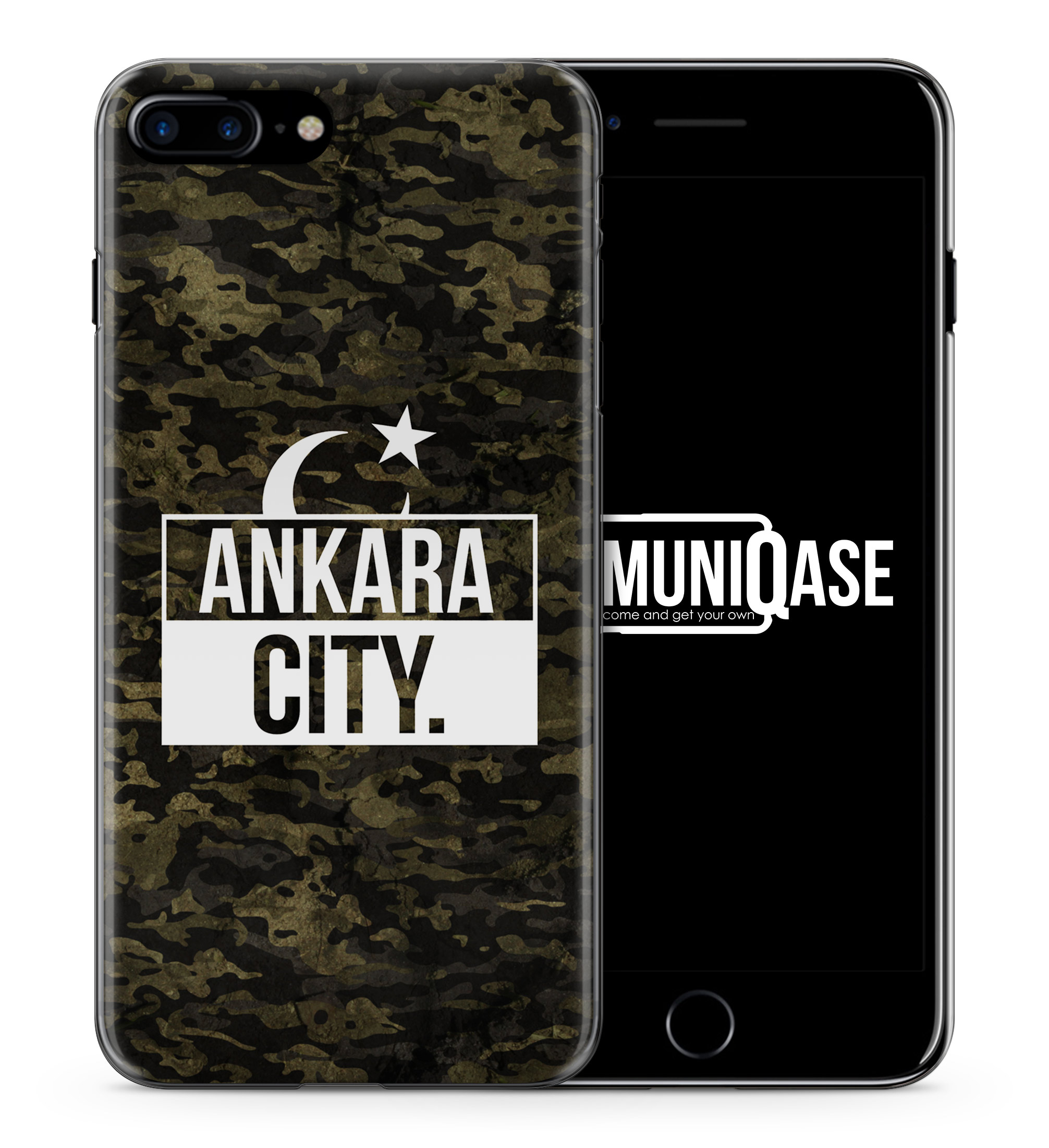 Ankara City Camouflage - Slim Handyhülle für iPhone 7 Plus